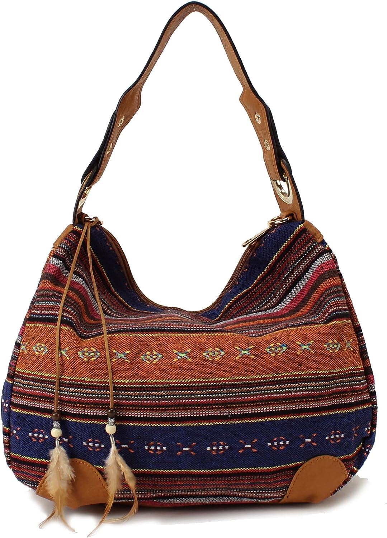 Scarleton Direct sale of manufacturer Striped outlet Jacquard H1581 Bag Hobo
