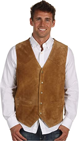 Suede Vest with Front Yokes
