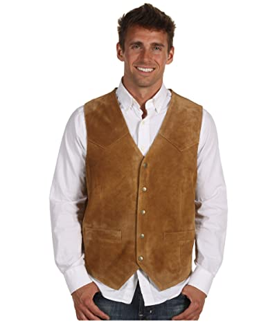 Roper Suede Vest with Front Yokes (Brown) Men