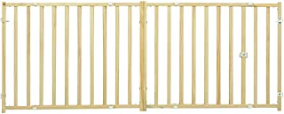 "MidWest Extra-Wide Swing Pet Safety Gate, Expands 50.25 - 94"" Wide, 24"" Tall"
