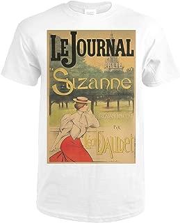 Le Journal - Suzanne-Leon Daudet Vintage Poster (artist: Lucas) France c. 1897 73055 (Premium White T-Shirt XX-Large)