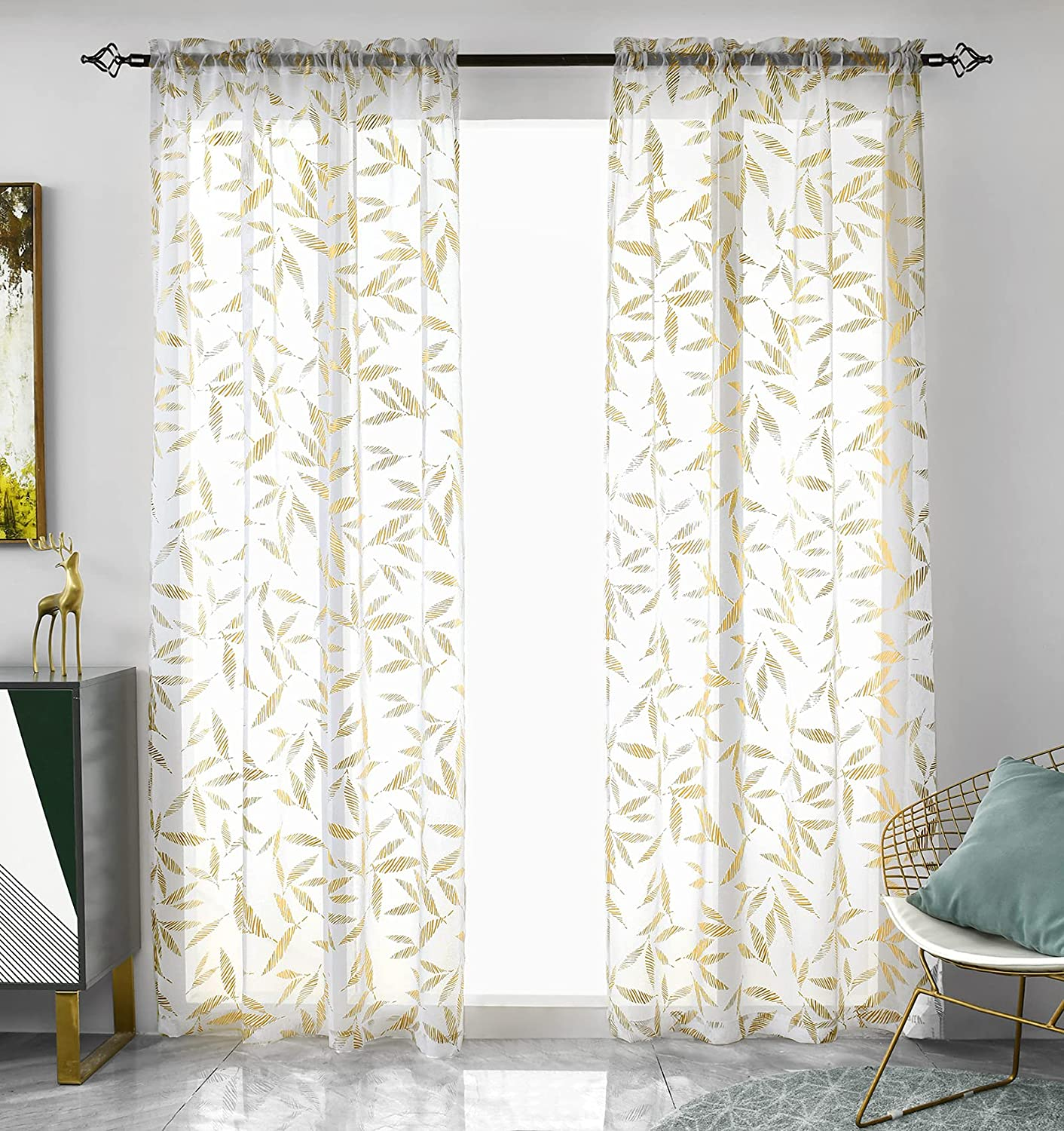 Window Sheer Curtains 84 Inch Length Set 2 Max 83% OFF Panels White Ranking TOP10 C