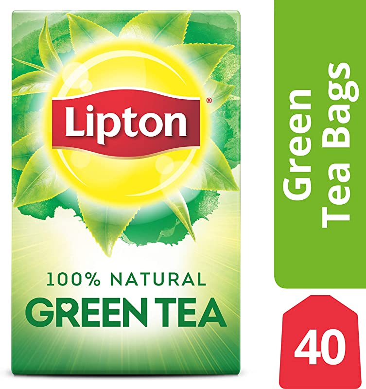 Lipton Green Tea Bags 100 Natural Tea 40 Ct