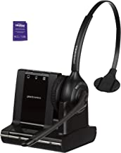 Plantronics Savi W710 Wireless Headset Bundled with Headset Advisor Wipe (Renewed)