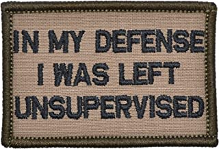 in My Defense I was Left Unsupervised - 2x3 Patch - Multiple Colors (Coyote Brown/Black)