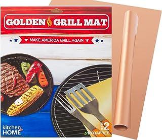Kitchen + Home Golden Grill Mat – Make America Grill Again - Set of 2 Nonstick, Heavy Duty, Reusable, BPA & PFOA Fr...