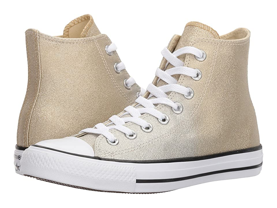 Converse Chuck Taylor(r) All Star Canvas Ombre Metallics Hi (Light Gold/Aged Gold/White) Women