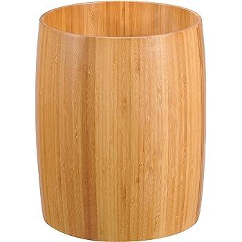 Creative Home 62015 Natural Bamboo Waste Basket, Trash Can