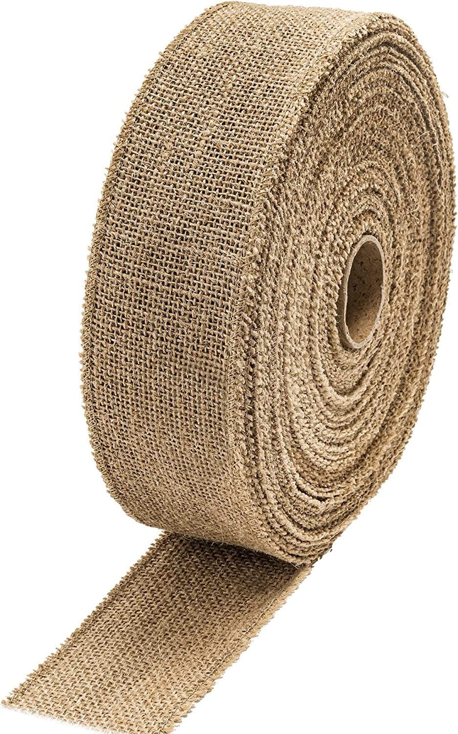 iPEGTOP 30 Mail order Yards Burlap Gorgeous Ribbon Roll Inch Wide 2 2-1 Ju Natural