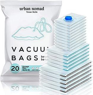 Urban Nomad Sac sous Vide Vetement Aspirateur Lot de 20 - Réutilisable Sacs Compression XL, L, M | 80% l'espace de Stockag...