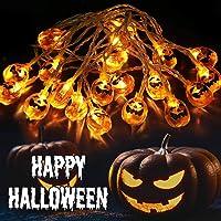 Ousfot Pumpkin Lights Battery Operated 10.4Ft Halloween Decor for Window, Patio, Garden, Gate, Yard