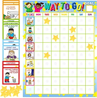 """Youngever""""Way to Go"""" Reward and Responsibility Chart, Magnetic Chore Chart, Behavior Chart for Kids with 75 Behavioral Cho..."""