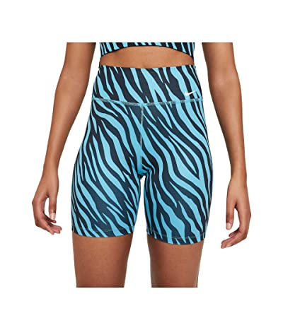 Nike One 7 Shorts All Over Print Icon Clash (Chlorine Blue/White) Women