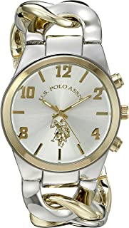 U.S. Polo Assn. Women's Quartz Watch, Analog Display and Gold Plated Strap USC40173