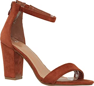 622d3ac555cc8 MVE Shoes Women s Sandal - Chunky Block Heel Ankle Strap -Open Toe Summer  Dress Shoes