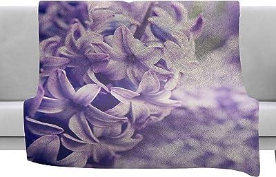 Kess InHouse Sylvia Cook Purple Quartz Lavender White Throw 40 x 30 Fleece Blanket