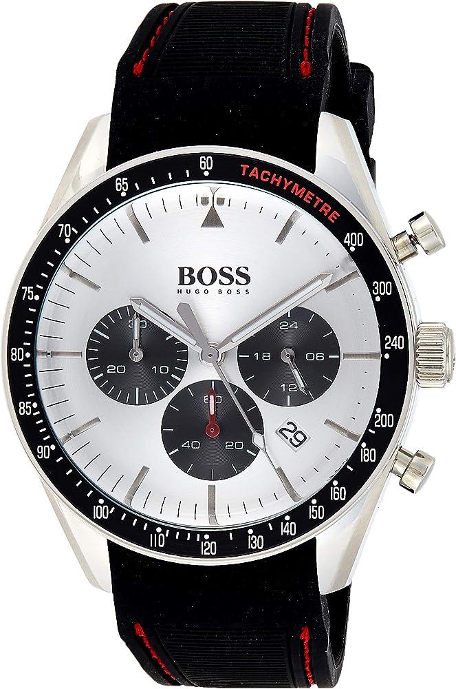 Hugo boss orologio cronografo uomo con cinturino in silicone 1513627