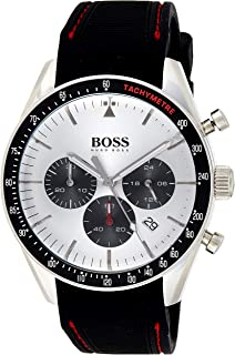 Hugo Boss Mens Quartz Watch, Analog Display and Silicone Strap 1513627