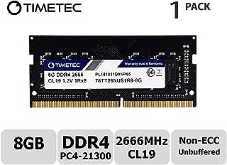 Timetec Hynix IC ノートPC用メモリ 8GB DDR4 2666MHz PC4-21300 Single Rank 260 Pin SODIMM 永久保証 (8GB)