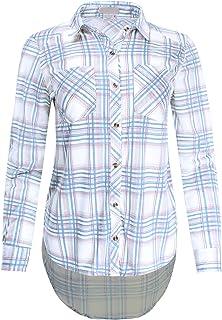 Ladies' Code Women's Hi-Lo Hem Plaid Button Up Shirt