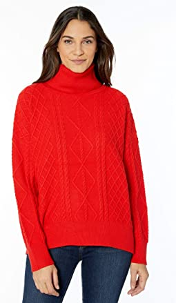 Red Holly Cable Knit