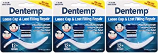 Dentemp Maximum Strength Dental Cement, 0.07 Ounce, 3 Count (Packaging May Vary)
