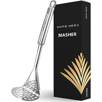 Potato Masher Stainless Steel - Food Masher Utensil Potato Masher Hand Masher - Mashed Potatoes Masher Avocado Masher - Bean Masher Stainless Steel Potato Masher Vegetable Masher