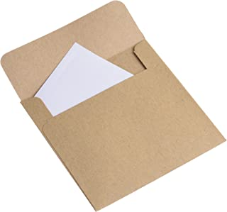 BCP 50 Pieces Small Kraft Coin Envelopes, Grocery Bag, jewelry Gift Bags 3.8 x 3.8 Inches