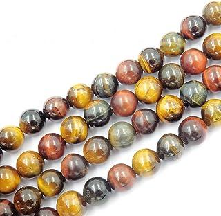 cuentas de piedras naturales para hacer bisuteria, perlas Piedra para pulseras perlas collares, 5 hebras en el interior, M...