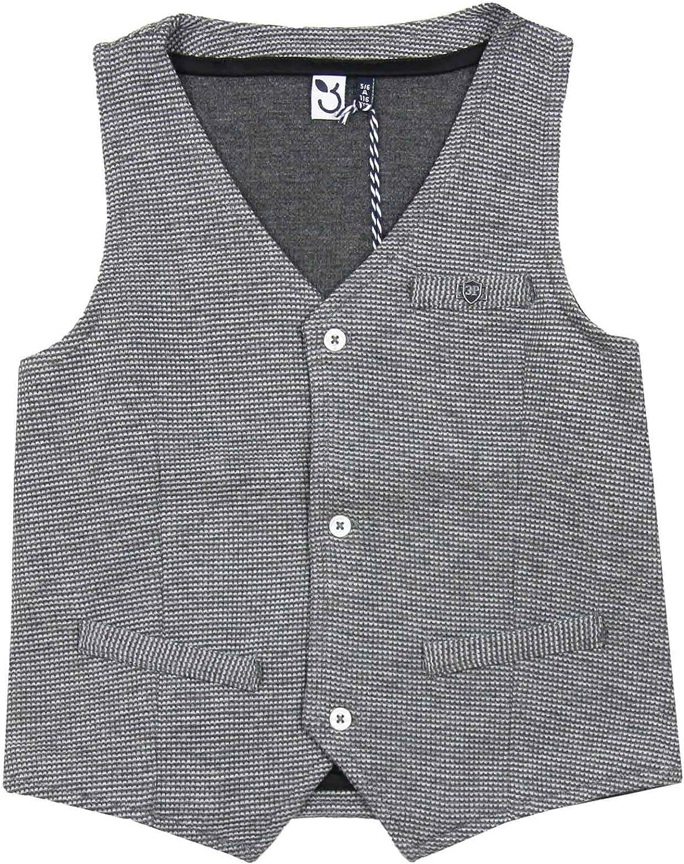 3POMMES Boy's Knit Dress Vest, Sizes 4-12