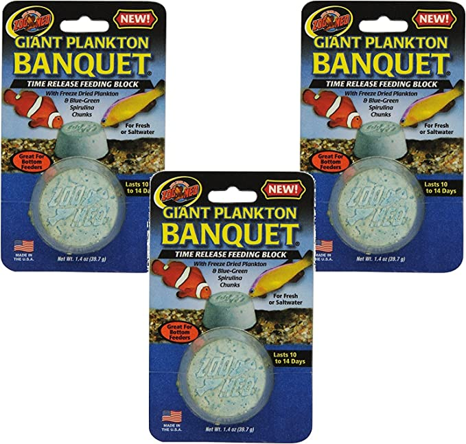Zoo Med Laboratories Plankton Banquet Block Feeders - Giant Size (3 Pack)