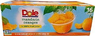 Dole Mandarin Oranges Fruit Cups - 16 x 4 Ounce - 64 Ounce