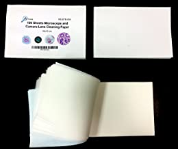Rs' Science 300 Sheets Ultrasoft Microscope and Camera Lens Cleaning Paper - 3-Pack of 100-sheet booklets
