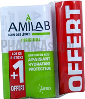 AMILAB LOT 2 STICKS LEVRES + 1 OFFERT
