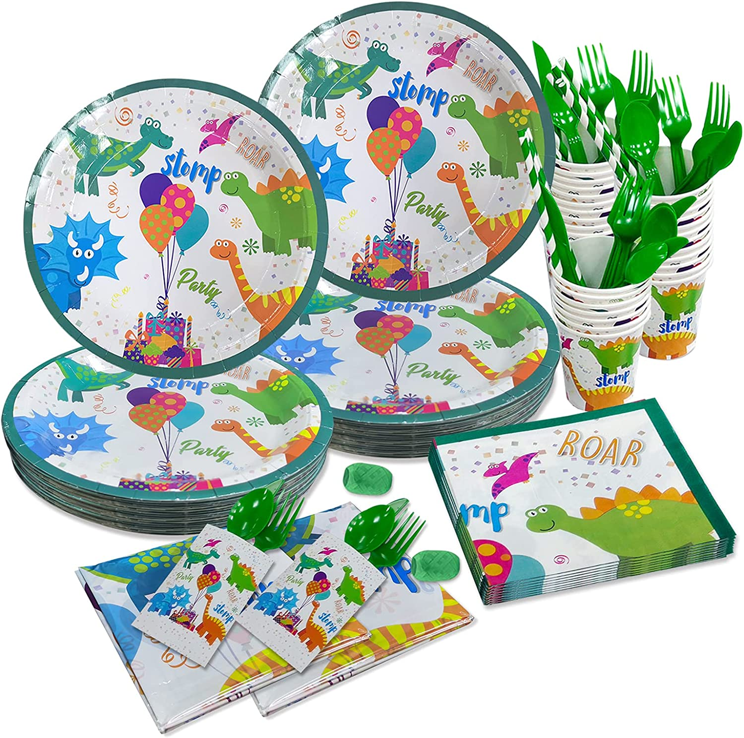 All-in-One Dinosaur Party Supplies, Dinosaur Party Plates, Napki