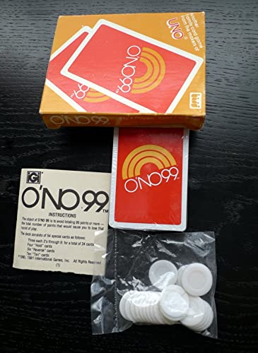 O'NO 99 Card Game From The Makers Of Uno 1980 by Unknown