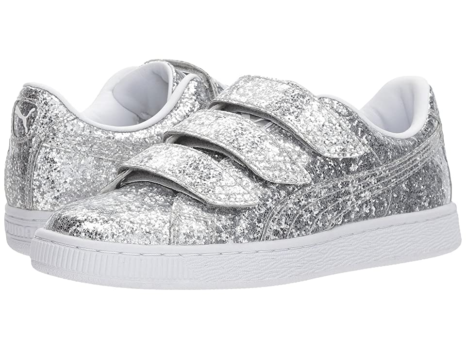 PUMA Basket Strap Glitter (Silver/Silver) Women
