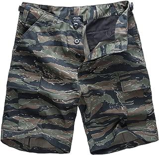 BACKBONE Mens Army Military Combat Camo BDU Shorts Outdoor Hunting Camping Casual Cargo Shorts