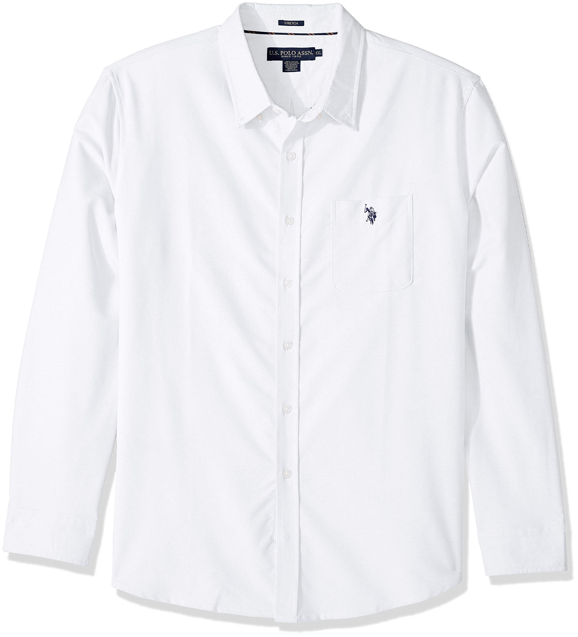 Polo Assn Mens Long Sleeve Classic Fit Woven Shirt U.S