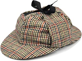 053dd0a6b0c Sherlock Holmes Tweed Deerstalker hat with Two Peaks and Ear Flaps