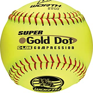 Worth WSL Slow-Pitch Pro Comp Super Dot Soft Balls, 12