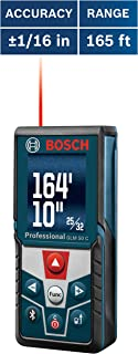 Bosch Blaze GLM 50 C Bluetooth Enabled 165' Laser Distance Measure with Color Backlit Display