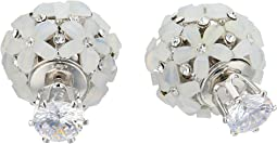 Front To Back Flower Ball Earrings
