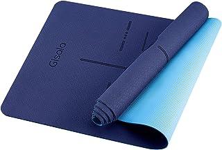 GISALA Tapis de Yoga TPE, Tapis de Sport Écologique Matériaux 100% Recyclables, 183 * 61 * 0.6cm Tapis Yoga Antidérapant e...