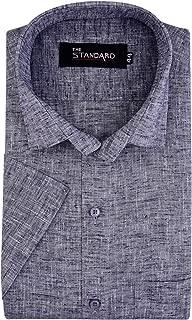 The Standard Men's Cotton Linen Formal Half Sleeves Shirt
