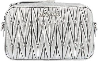 Miu Miu Women's 5BH118OOMN88F0135 Silver Leather Clutch