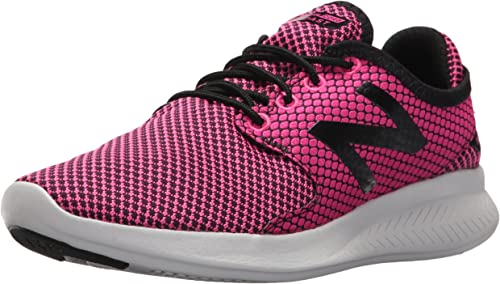 New Balance Wohommes FuelCore Coast V3 Running chaussures, rose Glo noir, 7 B(M) US