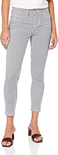 French Connection Women's Stripe Pants, Nocturnal/Summer WHI