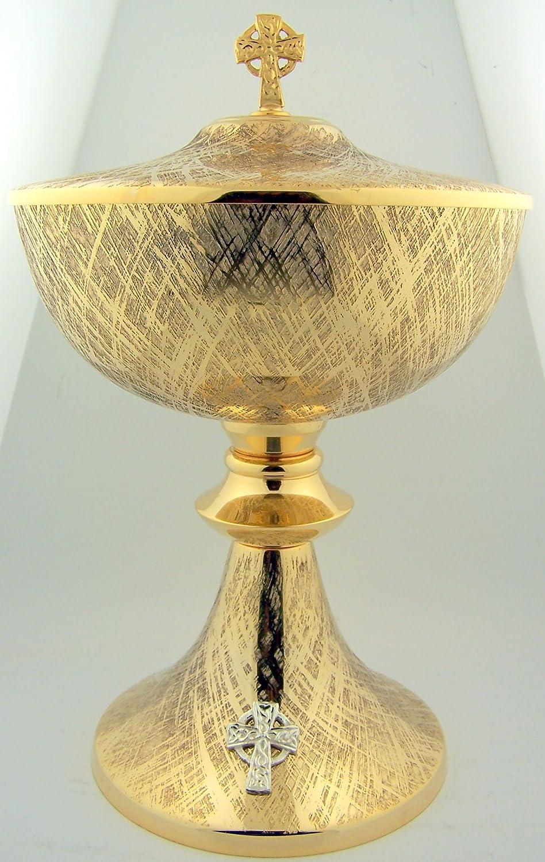 Big 9 1 2 Inch Church Chapel gold Gilded Priest Celtic Cross Chalice Host Ciborium Ciboria