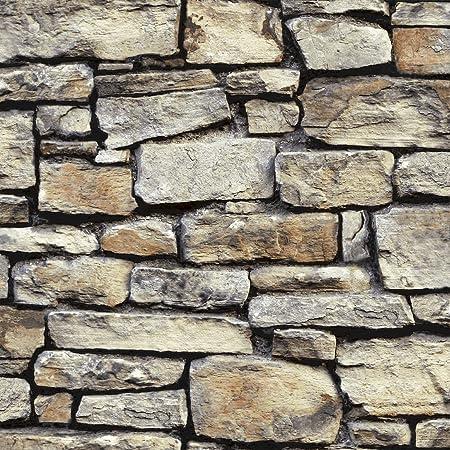 Arthouse 668901 Wallpaper, Cornish Stone Natural, 10 m